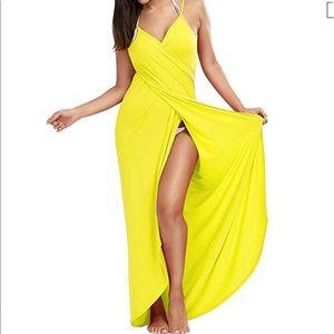 Other - Yellow beach bikini swimsuit Coverup